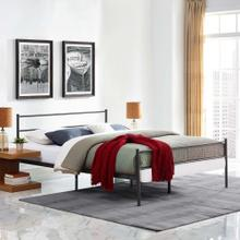 Alina Full Platform Bed Frame in Brown
