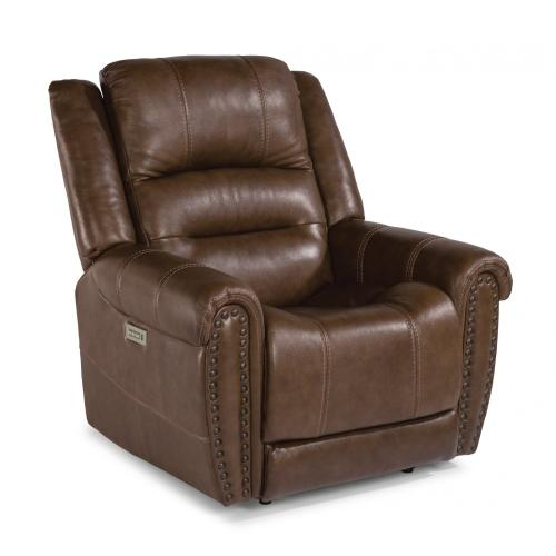 Jeremiah Leather Power Recliner with Power Headrest
