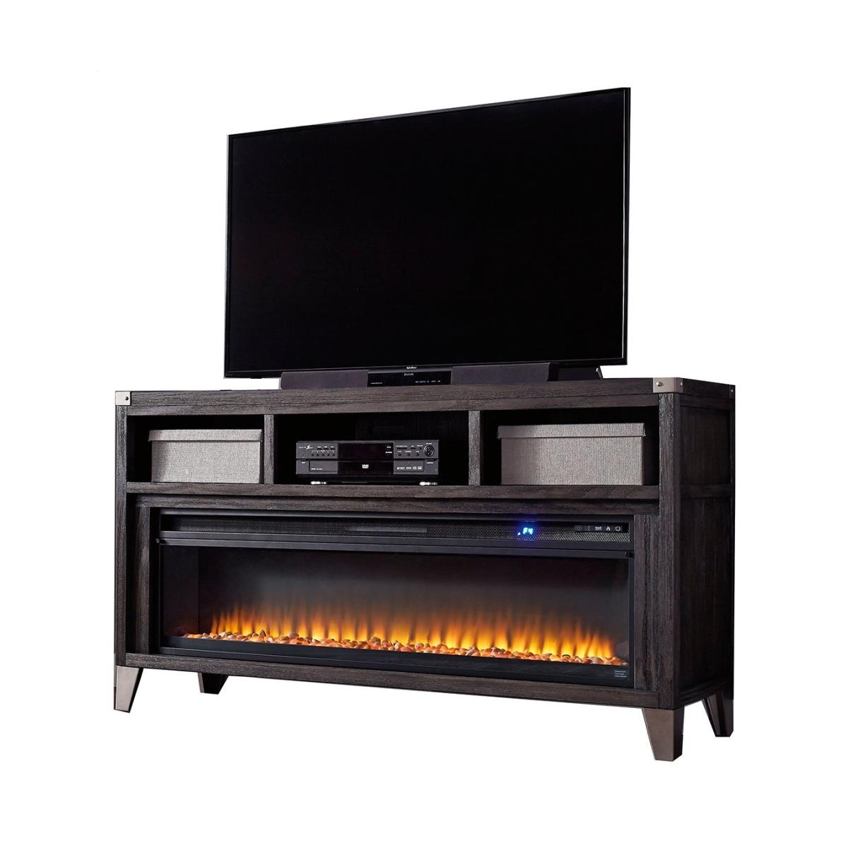 "Todoe 65"" TV Stand With Electric Fireplace"