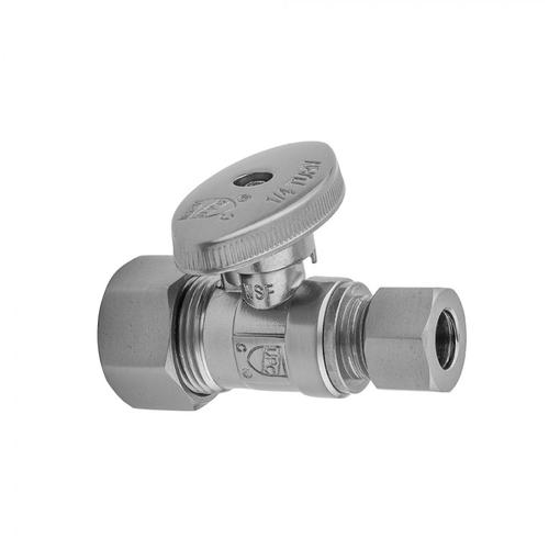 """Product Image - Bronze Umber - Quarter Turn Straight Pattern 5/8"""" O.D. Compression (Fits 1/2"""" Copper) x 3/8"""" O.D. Supply Valve with Oval Handle"""