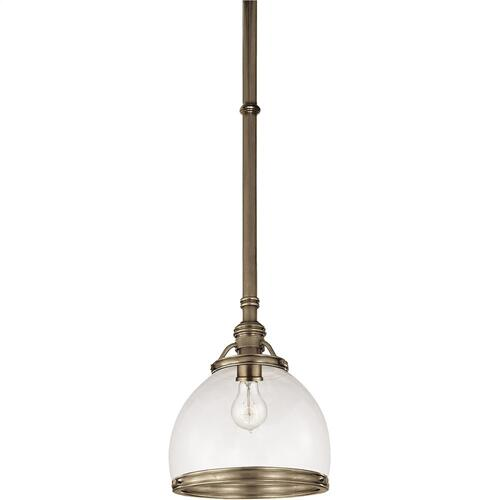 Visual Comfort CHC5132AN-CG E. F. Chapman Sloane 1 Light 10 inch Antique Nickel Pendant Ceiling Light in Clear Glass