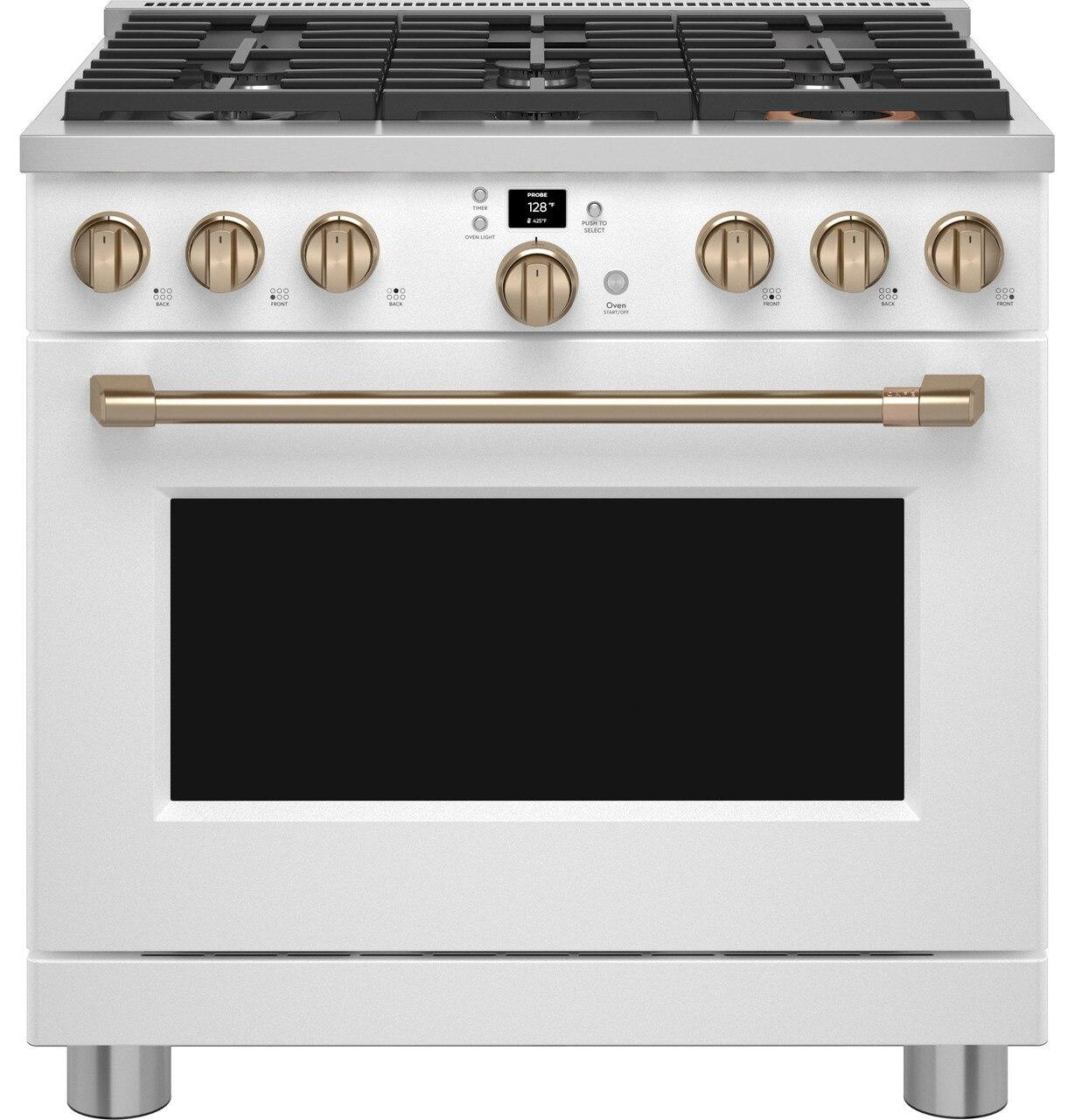 """Cafe AppliancesCafe™ 36"""" Smart All-Gas Commercial-Style Range With 6 Burners (Natural Gas)"""