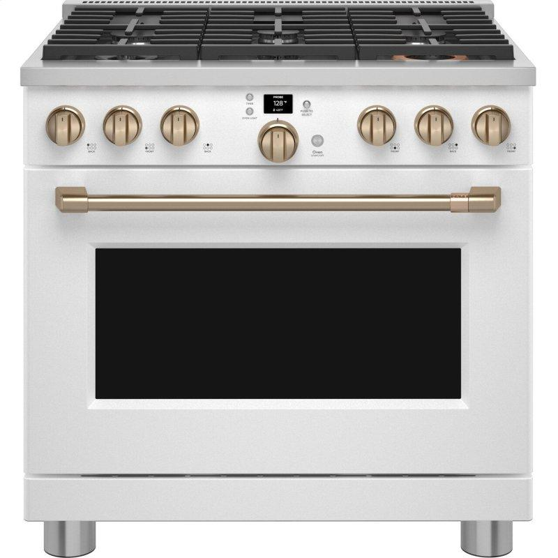 """Cafe™ 36"""" Smart All-Gas Commercial-Style Range with 6 Burners (Natural Gas)"""