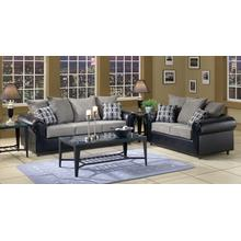 Vl Dolphin/colby Coal/trapper Black Sofa