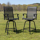 Outdoor Stool - 30 inch Patio Bar Stool \/ Garden Chair, Black (Set of 2) Product Image