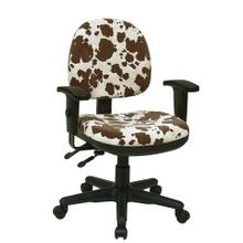 Sculptured Ergonomic Managers Chair With Adjustable Arm