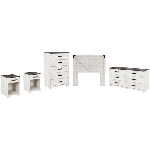Ashley - Full Panel Headboard With Dresser, Chest and 2 Nightstands