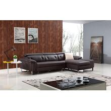 Divani Casa T736 Modern Brown Leather Sectional Sofa
