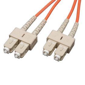 Duplex Multimode 62.5/125 Fiber Patch Cable (SC/SC), 0.3M (1 ft.)