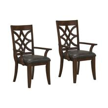 See Details - Wellsville 2-Pack Upholstered Arm Chair, Cherry Brown