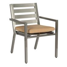 See Details - Palm Coast Slat Dining Armchair - Stackable