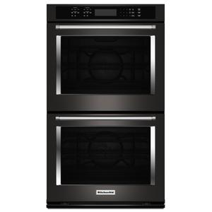 "KITCHENAID30"" Double Wall Oven with Even-Heat(TM) True Convection - Black Stainless Steel with PrintShield(TM) Finish"