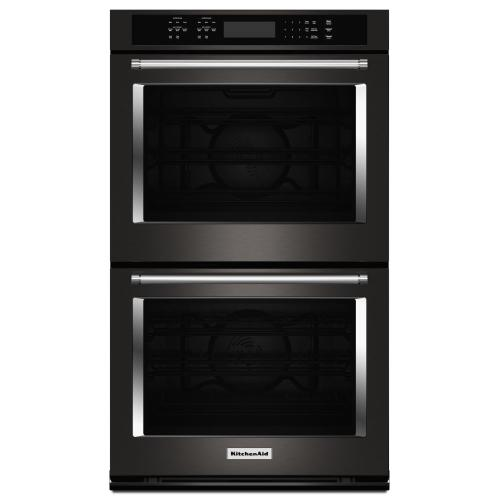 "30"" Double Wall Oven with Even-Heat™ True Convection - Black Stainless Steel with PrintShield™ Finish"