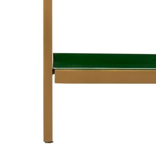 Justine 5 Tier Etagere - Green / Brass