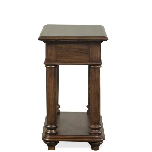 Chairside Table - Plymouth Brown Oak Finish
