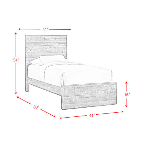 Bailey Twin Panel Bed