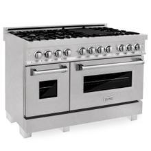 "ZLINE 48"" DuraSnow® Stainless Steel 6.0 cu.ft. 7 Gas Burner/Electric Oven Range with Color Door Options (RAS-SN-48) [Color: DuraSnow® Stainless Steel]"