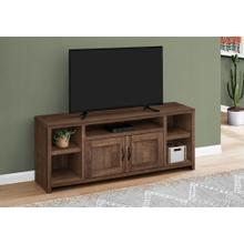 """See Details - TV STAND - 60""""L / BROWN RECLAIMED WOOD-LOOK"""