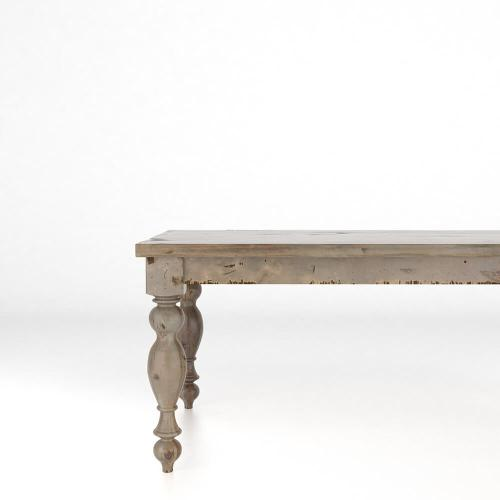 Rectangular thick top table