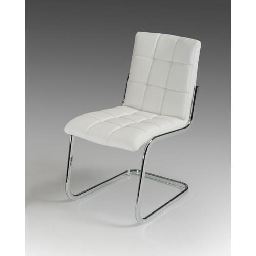 Gallium - Modern White Leatherette Dining Chair (Set of 2)