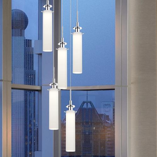 Sonneman - A Way of Light - Candle Plus LED Pendant [Size=Long, Color/Finish=Satin Nickel]