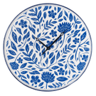 Blue & White Enamel Floral Wall Clock Product Image
