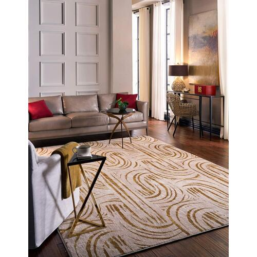 "Artisan Equilibrium Brushed Gold 2' 4""x7' 10"" Runner"