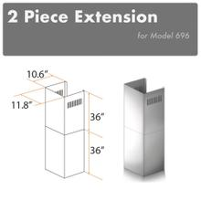 """See Details - ZLINE 2-36"""" Chimney Extensions for 10 ft. to 12 ft. Ceilings (2PCEXT-696)"""