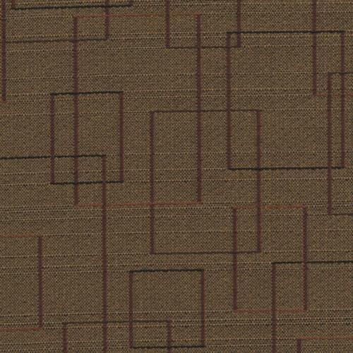 Flash Furniture - 18.5''W Church Chair in Amaze Brass Fabric - Gold Vein Frame