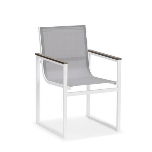 Renava Gulf Outdoor White & Grey Dining Table Set