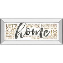 """Home"" By Marla Rae Mirror Framed Print Wall Art"