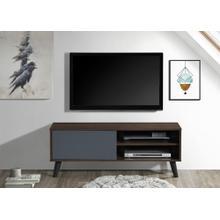 """See Details - 2033 DARK WALNUT & GRAY Faux Wood TV Stand - 47"""" L"""