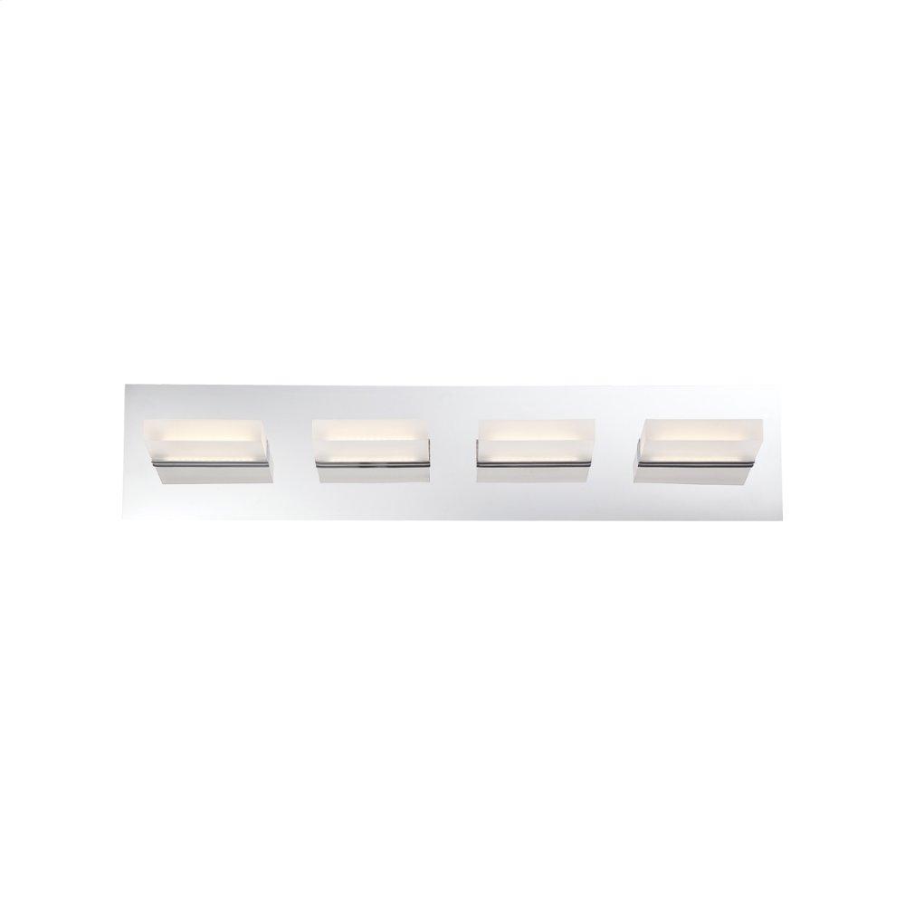 See Details - 4 LIGHT LED BATHBAR - Chrome