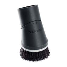 Dusting brush with flexible swivel joint For gentle cleaning of high-quality floors