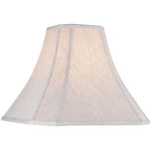 """Cut Corner Linen Shade - 5""""tx12""""bx10""""h"""