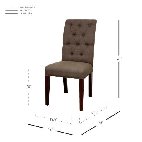 Gwendoline Tufted Side Chair, Bark