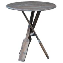 Product Image - Boat Oar Accent Table - Blue Brush Finish