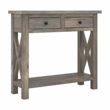 See Details - 36W Narrow Console Table with Drawers - Assembled, Lakewood Gray