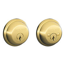 Bright Brass Keyed 2-Sides Deadbolt