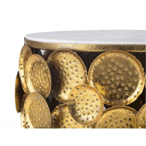 Tov Furniture - Brie Marble Side Table