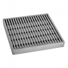 "Polished Stainless - 6"" x 6"" Bar Channel Drain Grate"
