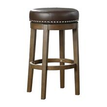 Round Swivel Pub Height Stool, Brown
