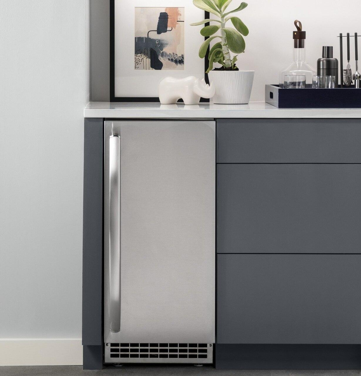 Unc15njii Cafe Ge Profile Ice Maker 15 Inch Nugget Ice Custom Panel And Handle Required Home Source