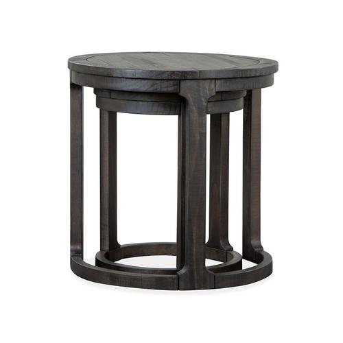 Round Nesting End Table