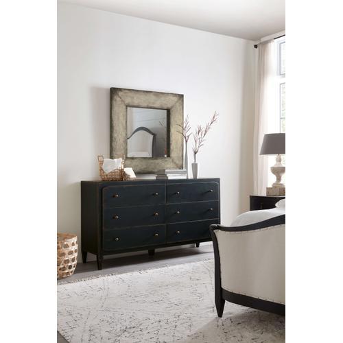 Ciao Bella Six-Drawer Dresser- Black