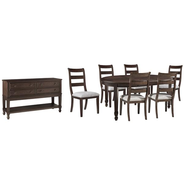 See Details - Dining Table and 6 Chairs With Storage