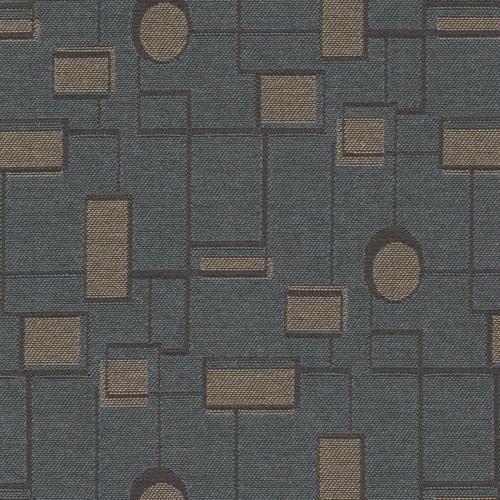 Flash Furniture - 18.5''W Church Chair in Circuit Teal Fabric - Gold Vein Frame