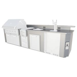 Hestan12' Outdoor Living Suite with Side Burner and Beer Dispenser (Custom Countertop) - GE Series