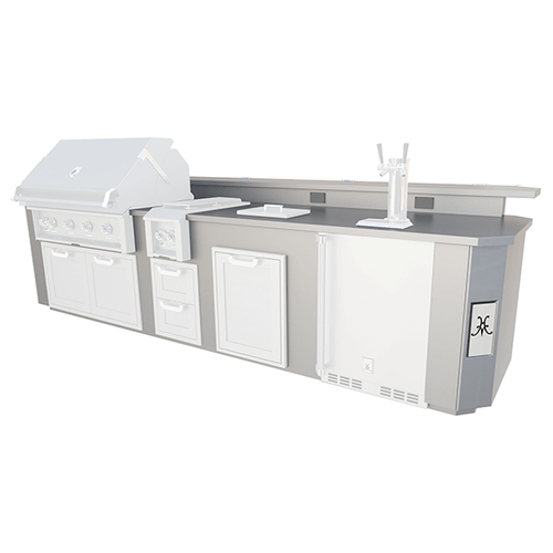 Product Image - 12' Outdoor Living Suites with Side Burner and Beer Dispenser (Custom Countertop) - GE Series