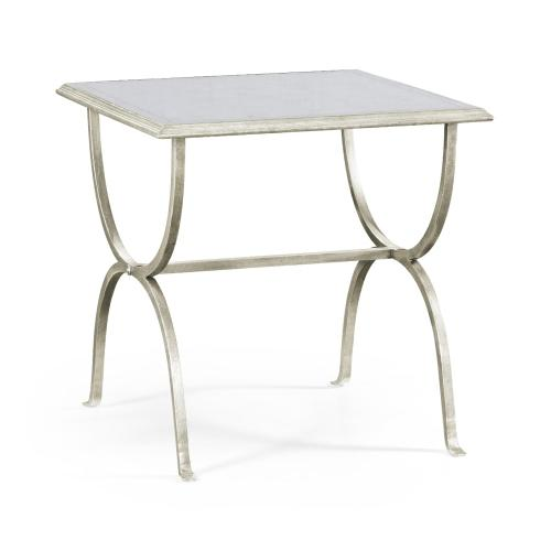 glomise & Silver Iron Square Side Table